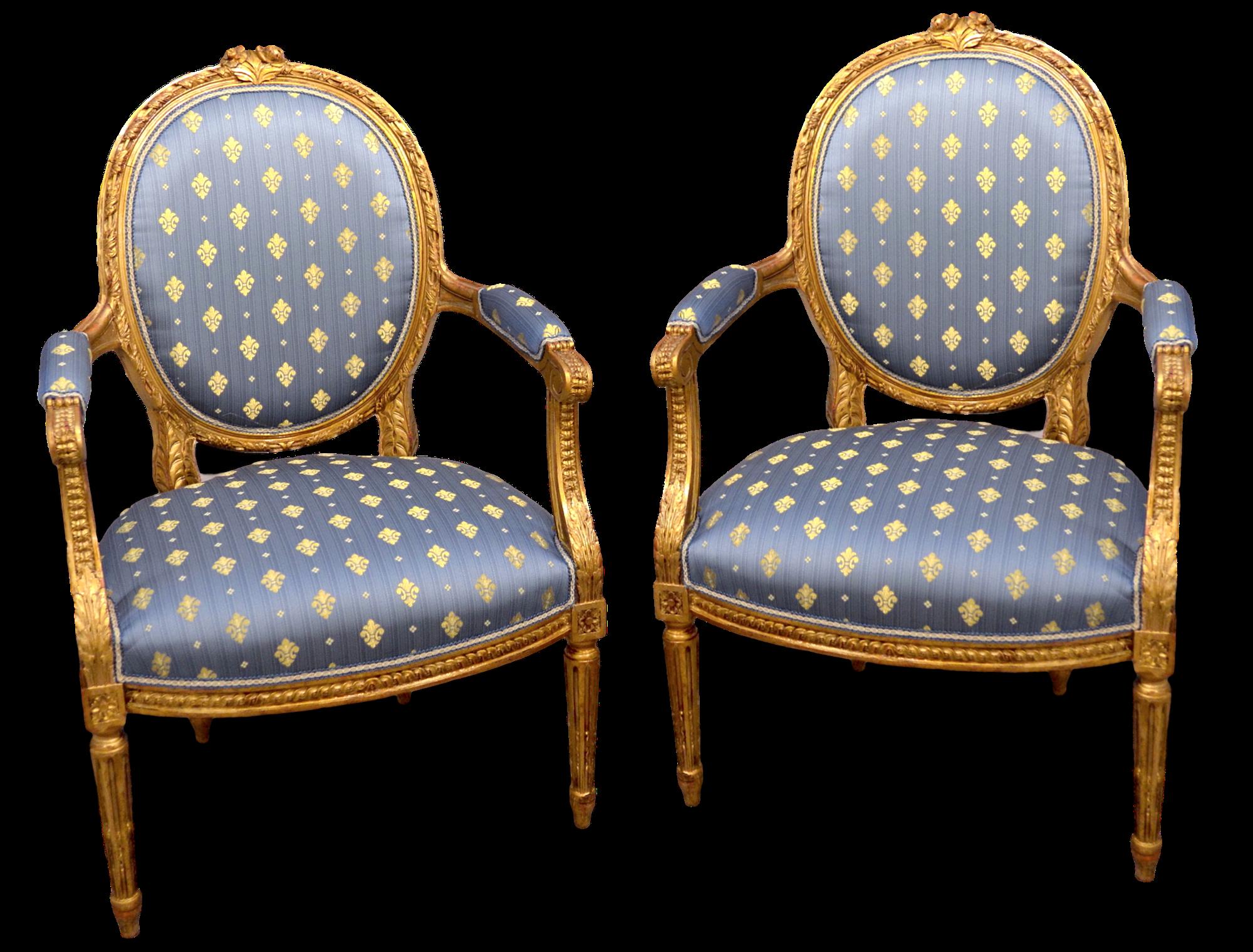 Coppia di poltrone stile Luigi XVI Francia, inizi XIX secolo ...